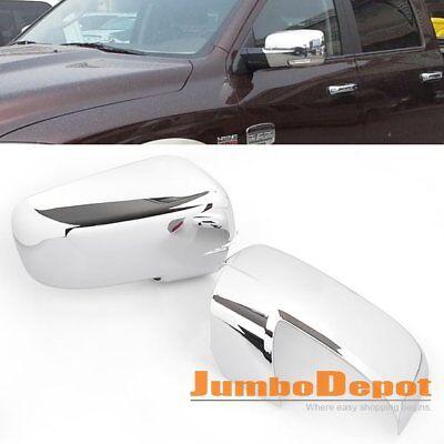 Triple Chrome Side Door Mirror Cover Trim Fit Dodge Ram 1500 2500 3500 2009-2012