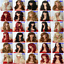 black-brown-blonde-long-wavy-straight-curly-with-fringe-cheap-womens-fashion-wig thumbnail 4