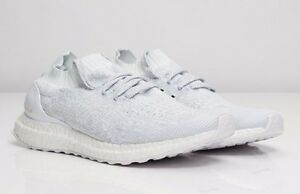 ed93480e76c18 Image is loading adidas-ultra-boost-uncaged-triple-white-reflective-Men-