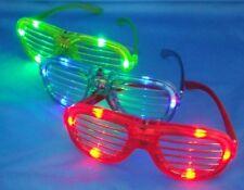 12 pcs Slotted Sunglasses Blinking Led Light Up Flashing Party Gift Bag Fillers