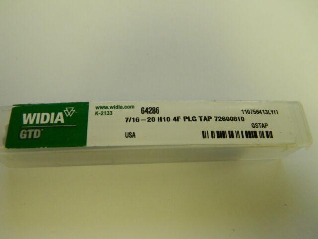 Widia GTD Plug Hand Tap HSS 7//16-14 H3 LH Qty 2 USA #14226