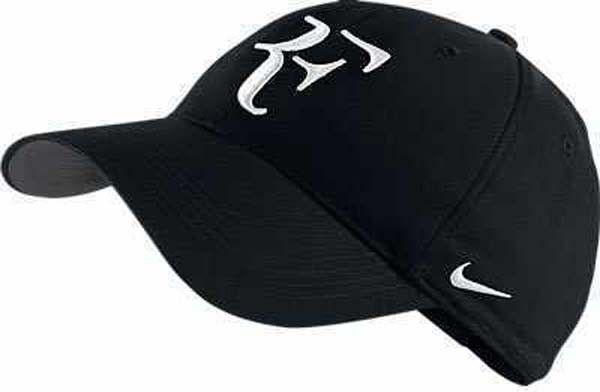 New Nike RF Roger Federer Hat Cap Black/ Tennis Dri Fit 371202-010