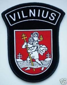 NEW-Lithuania-Uniform-Sleeve-Patch-Police-Vilnius-City-Capital