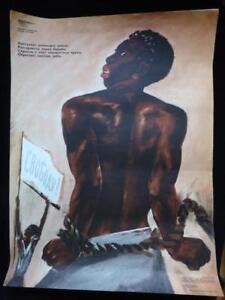 1980 'Freedom!' Poster 56x42 cm Anti-colonialism Soviet Russian USSR Original