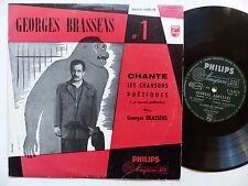 "25 cms 10"" GEORGES BRASSENS N°1 Chansons poétiques N76061R Imprim 5-56"