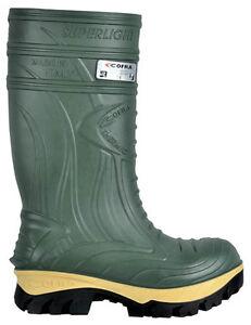 Cofra-Thermique-Securite-Vert-Wellingtons-Composite-Bouts-Coques-Semelle-Milieu