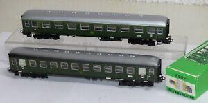 2-Maerklin-Personenwagen-Blech-4022-und-4023-H0-TOP-Zustand