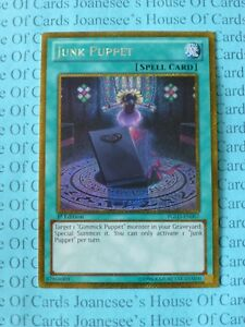 Junk-Puppet-PGLD-EN007-Gold-Secret-Rare-Yu-Gi-Oh-Card-1st-Edition-New
