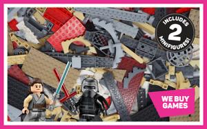 Lego-Star-Wars-1-kg-Bundle-700-Mixte-briques-pieces-plaques-amp-PIECES-2-minifigs