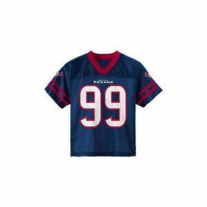 Top Youth #99 JJ WATT Houston TEXANS Blue Football Jersey Shirt NFL Team