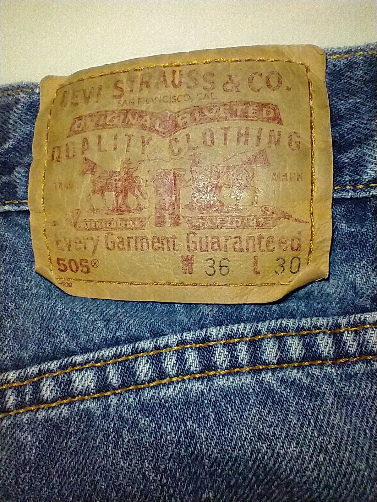 Levi's 505 Jean's Made in the USA Men's size 36x3… - image 3