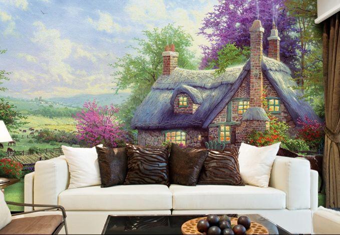 3D bella casa 344 Parete Murale Foto Carta da parati immagine sfondo muro stampa