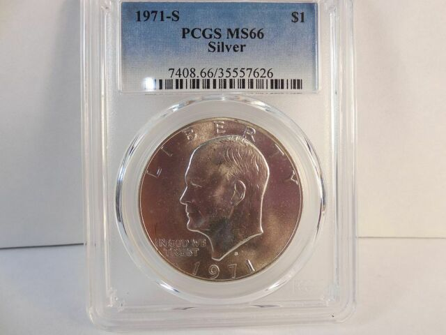 1971S Silver Eisenhower Dollar PCGS MS66
