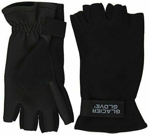 Black Glacier Gloves Alaska River Large Fingerless Glove
