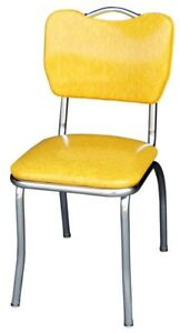 Handle-Back-Diner-Chair-Cracked-Ice-Yellow-with-1-inch-Pulled-Seat-Chrome