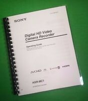 Laser Printed Sony Hxr Mc1 Video Camera 196 Page Owners Manual Guide