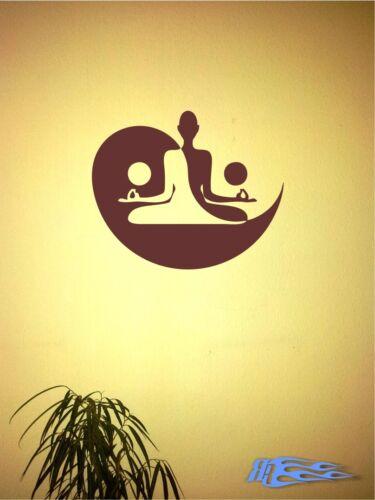 oracal MATT Deko Wand Schedel Yin Yan 3 Wandtattoo Yin und Yan Budda