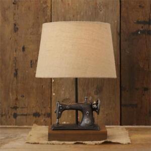 New Primitive Antique Style Vintage Sewing Machine Lamp