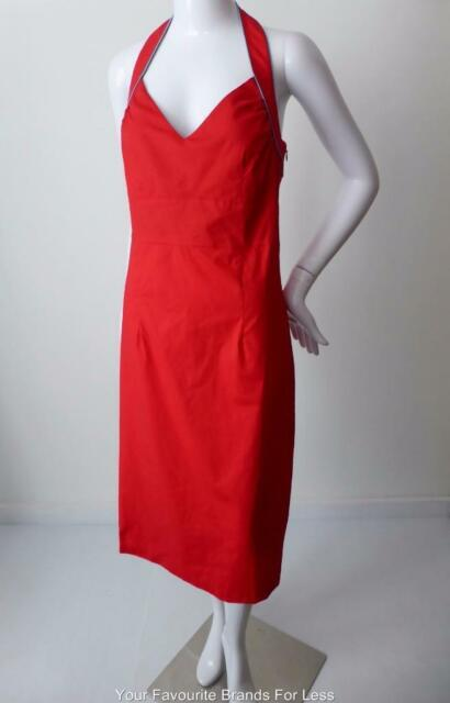 JIGSAW Women's Dress Halter Neck Made in Australia Size 10 - 12 US 6 - 8
