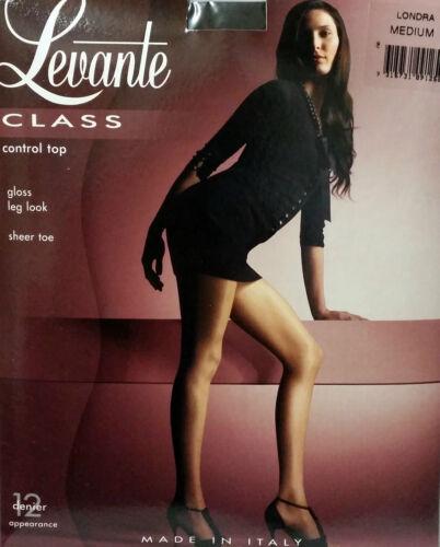 Levante Class Control Top Gloss Tights Charcoal Medium