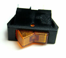 Swann Industries Illuminated Rocker Switch - SPST - 125V 15A - Lighted Amber