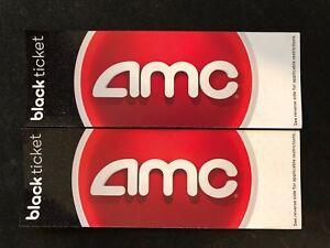 AMC Theatre Black Movie Ticket Vouchers, 2 Pack