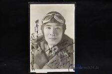 org. Foto mit Widmung Japan Pilot 14.5.1935 in Leipzig Flug London - Tokio