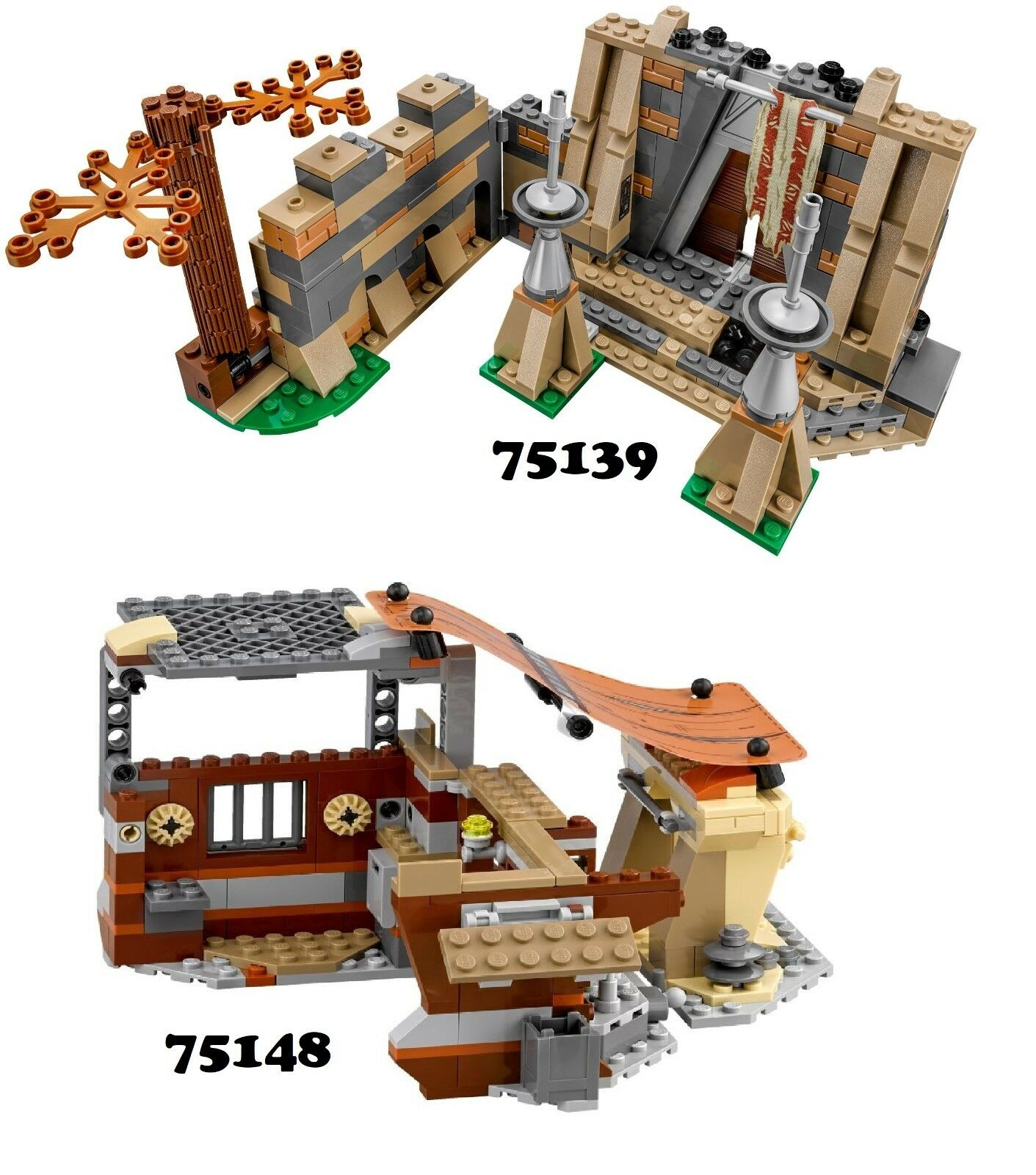 NUOVO  LEGO estrella guerras 75139  & 75148 Combo Set  NO Minicifras  per il commercio all'ingrosso