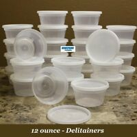 Delitainer 12 Oz. Deli Food Containers W/ Lids - Pack Of 40 - Food Storage - By: on sale