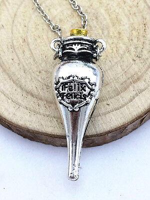 2Colors Harry Potter Felix Felicis Liquid Lucky Alloy Bottle Pendants Necklaces