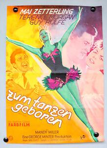 Kino-Plakat-Zum-Tanzen-Geboren-1954-Film-Poster-Original-Dance-Little-Lady