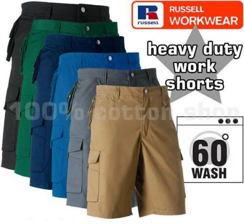 Para Hombre Nuevos Carga Combate Workwear trabajo Shorts Pantalones Russell Heavy Duty De Teflón