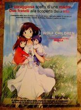 Wolf Children - Ame e Yuki i bambini lupo  locandina evento rare