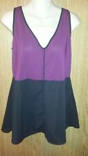 Narciso Rodriquez Womens Top Blouse Design Nation Sz S Wine Black