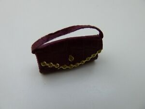 Dolls-House-Miniature-1-12th-Scale-USED-EX-DISPLAY-Accessory-Dark-Pink-Handbag