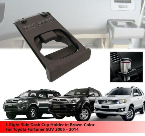 1 Right Side Brown Color Dash Cup Holder Use Toyota Fortuner SUV 2005 2014