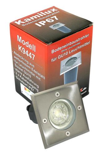 7W = 52W GU10 LED Aussenleuchte Bodo Feucht Nass Terrasse IP67 Boden Einbau 230V