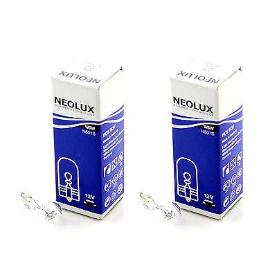 Licence Plate Light Bulbs Pair 2x Standard Halogen Neolux Rear Number