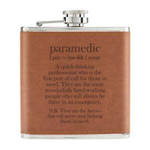 Paramedical-Definition-170ml-Cuir-PU-Hip-Flasque-Brun-Worlds-Best-Genial-Musclee