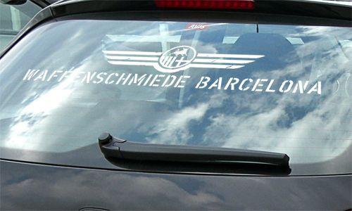 informa del color especificar! etc Auto pegatinas waffenschm iede barcelona Seat Leon