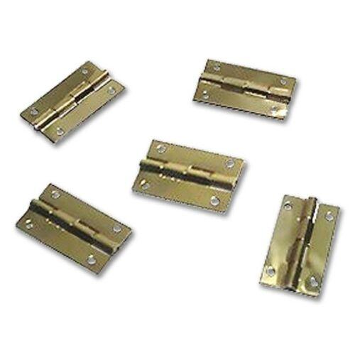20 unités 0,42 €//pièce vermessingt Laiton Charnière 9 x 10 mm métal