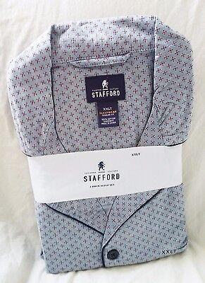 STAFFORD Pajamas - 2 Piece Sleep Set - Gray Red Dot ($95 Retail) - 2XLT