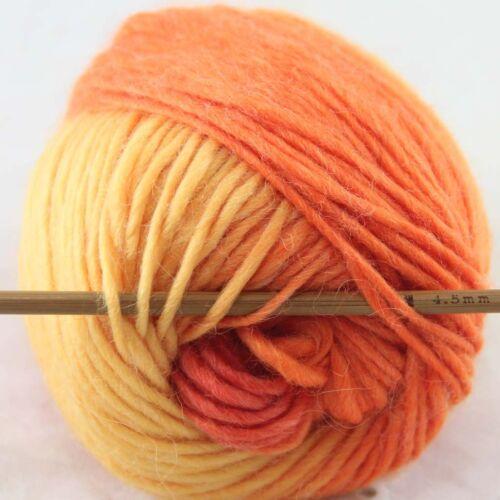 SALE 1ballx50g NEW Chunky Colorful Hand Knitting Wool Yarn Yellow Orange