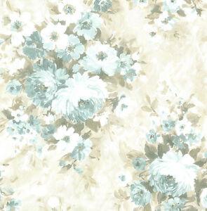 Papier Peint, Design Papier Peint, Lueur, Fleurs, Otan, Blanc, Olive, Sable, Comme Neuf, Lind-afficher Le Titre D'origine Rsr4d8vu-08004537-382502346