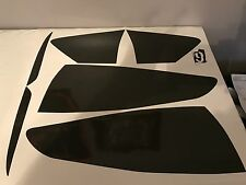 13-16 Ford Fusion Tail light & reflectors tint cover vinyl overlays smoked
