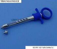 Dental Anesthetic Aspirating Syringe 18mm Blue Plastic Handle High Quality Ce