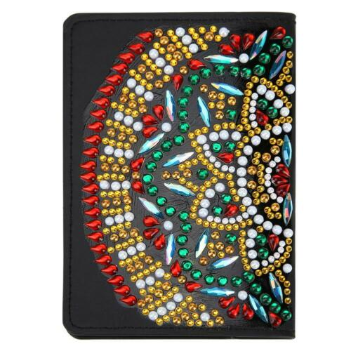 DIY Special Shaped Drill Diamond Painting Leather Passport Protection Cover Gift