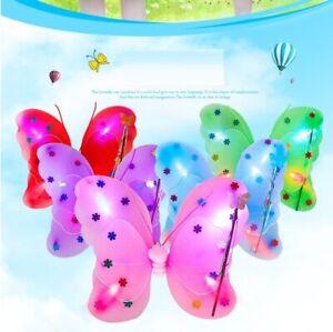 Kids Girls LED Flashing Light Fairy Angel Butterfly Wing Wand Headband 3 pcs Set