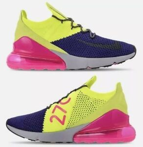 46b53867846c71 Nike Air Max 270 Flyknit Multi-Color Purple Running Shoes AO1023-501 ...