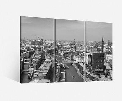 Hamburg Speicherstadt sw Bild Leinwand Keilrahmen Poster XXL 120 cm*80 cm 221